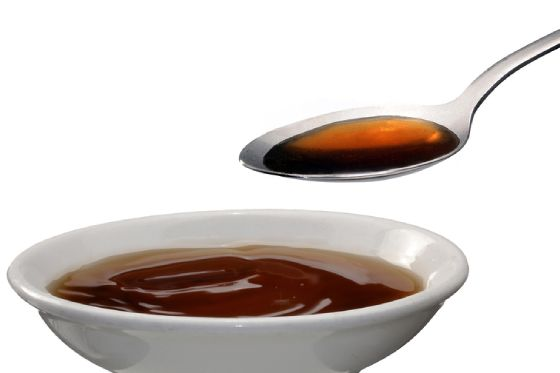Bowl and spoon of bone broth
