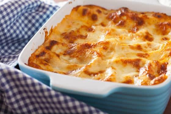 Homemade Lasagna in a Dish