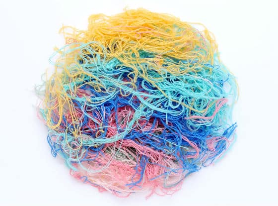 Tangled ball of yarn depicting complex health conditions.